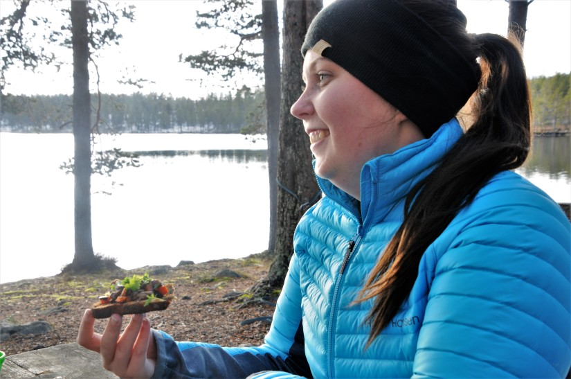 Matlagning och mys vidBurusjön